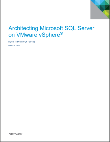 vmware sql best practices